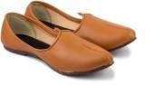 Tashi Brown Leather Jalsa Jutis (Brown, ...