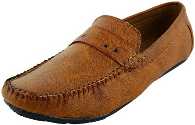 VOGUE GUYS tan simple loafer Loafers