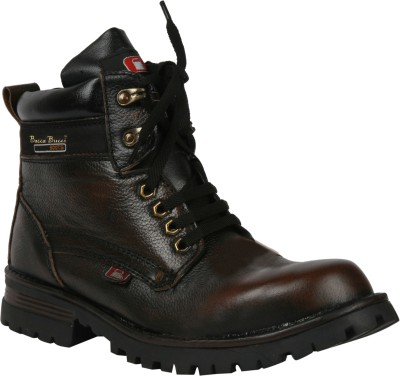 Bacca Bucci Outlandish men steel toe Boots(Brown)