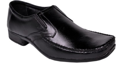 Leather Wood Slip On Shoes
