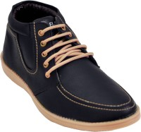 Adjoin Steps Lace Up Casual Shoes(Black)