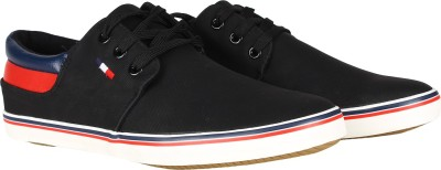 Swagg Mens black leather sneaker shoes Sneakers