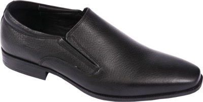 Pinellii Berling Slip on Black (Italian Hand Crafted) Slip On Shoes