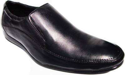 JK Port Nv303 Formal Leather Slip On Shoes(Black) at flipkart