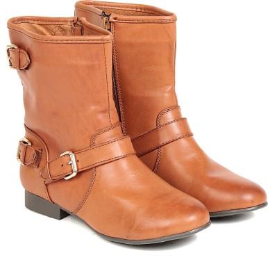 Ten TEN Womens Tan Mid Length Boots Boots(Tan)