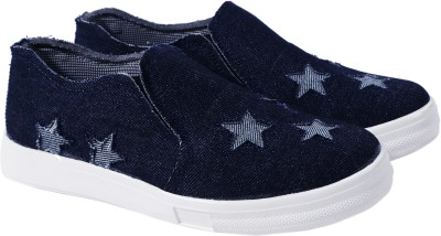 Heels And Toes Canvas Shoes, Casuals, Outdoors, Sneakers, Loafers, Mocassin(Navy)