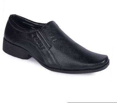 Axam Black Slip On Shoes