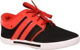 Cox Swain Canvas Shoes (Red, Black)