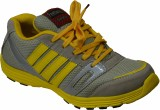 Feetway Running Shoes (Grey, Yellow)
