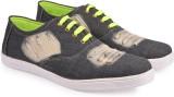 True Soles Men's Grey Denim Sneakers (Gr...
