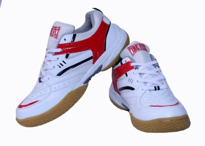 Firefly White & Red Excel Badminton Shoes