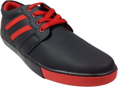 Adeboy Men Black Red Sneakers