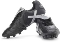 Vector X Dynamic Football Shoes(Black, Silver)