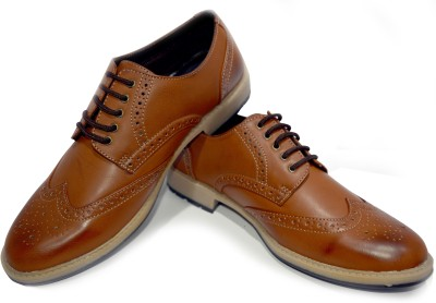 Ajanta Imperio Brown Brogue Shoe Corporate Casuals