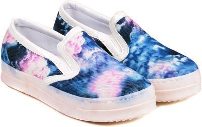 TEN Blue Fabric Sneakers Sneakers