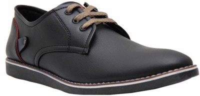 Black Tiger Men's Synthetic Leather Casual Shoes 088-Black-6 Casuals