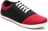FNB F-25 Casual Shoes (Black, Red)