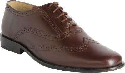 Claude Lorrain Brown Party Wear Brogue Lace Up Shoes