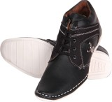 Big Wing Black Ankle Length Casuals Shoe...