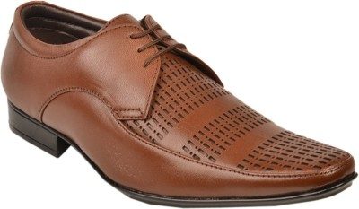 Leather Wood Lace Up