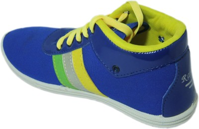 Stepin Soles Bolt Blue Casual Shoes