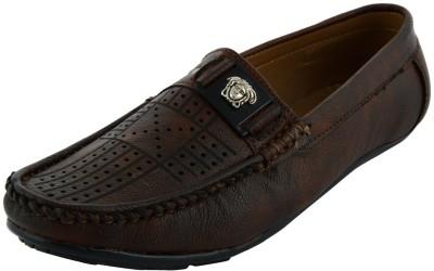 VOGUE GUYS brown laser work loafer Loafers