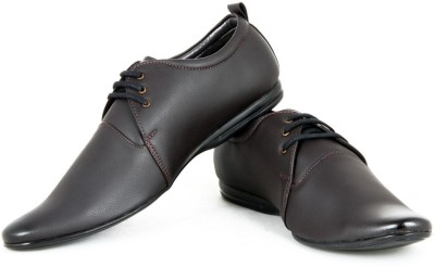 Faces By Devils Phelan Plain Brown Lace Up Shoes
