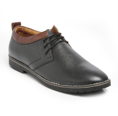 TEN Black Leather Casual Shoes Casuals