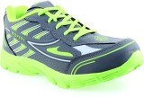 Motion Shoes Running Shoes (Grey, Green)