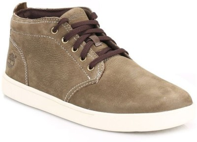 Timberland Mens Olive Groveton Leather Chukka Boots Casual Shoes