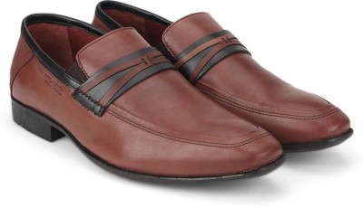 Woods Genuine Leather Slip On Shoes(Brown)