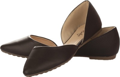 Vero Couture Dorsay Black Flat Bellies