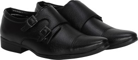 Kraasa Corporate Monk Strap(Black)
