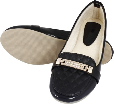 Earth Boon Eb-121-Black Loafers