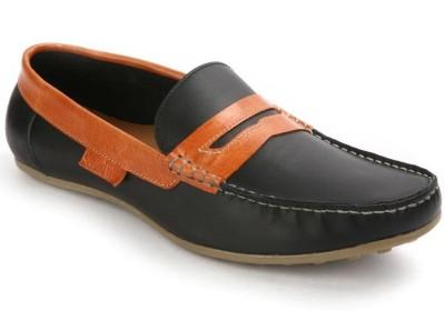 SeeandWear Black Leather Loafers