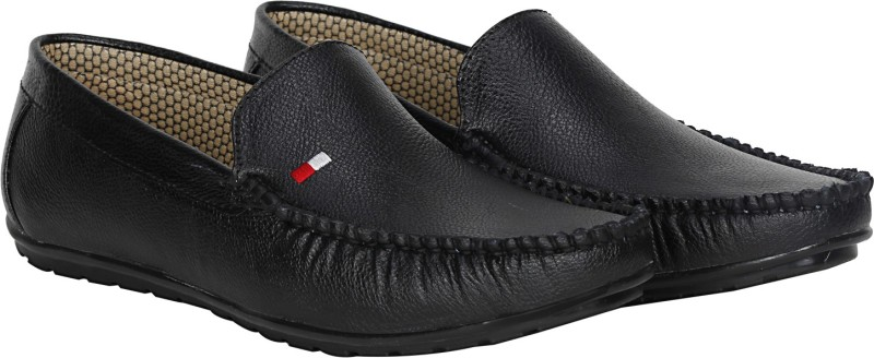 Kraasa Trendy Loafers, Mocassin, Party Wear, Casuals(Black)