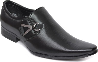 Kamil Black Slip On Shoes