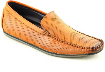 Faces By Devils Ginerva Dotted Tan Loafers