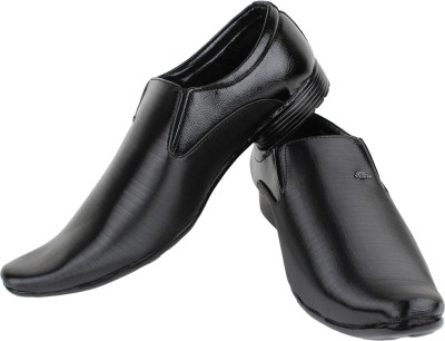 Earton Black-362 Slip On Shoes