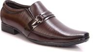 Adam's Heel Men's Slip On Shoes(Brown)