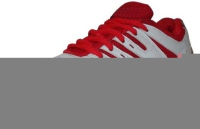 Port White Super Spark Sports Badminton Shoes