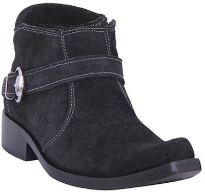 Stiletto Black Leather With Side Zip Boots