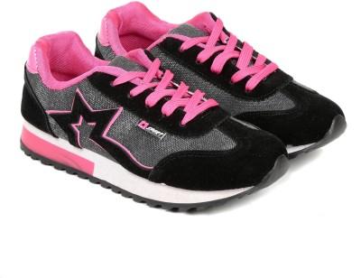 TEN Black Fabric Sports Shoes