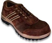 JK Port Mens Talent Brown Leather Safety Casual Shoes(Brown) best price on Flipkart @ Rs. 872