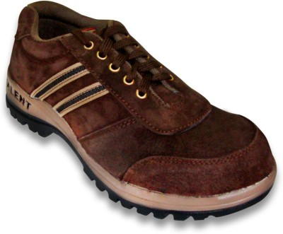 Jk Port Mens Talent Brown Leather Safety Casual Shoes