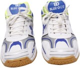 Blue Dot Badminton Shoes (White)