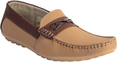 SKYLARK Tan Leather Loafers