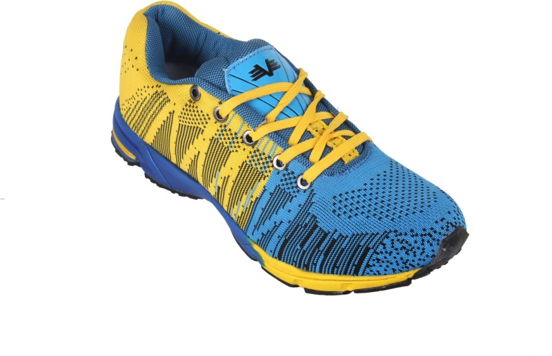 Vijayanti V Knit Knitted Running ShoesBlue Yellow