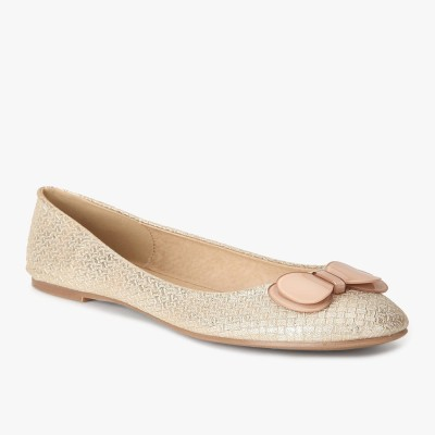 Addons Woven textured ballerina Bellies(Gold)