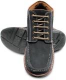 Donner Black High Ankles Boots (Black)